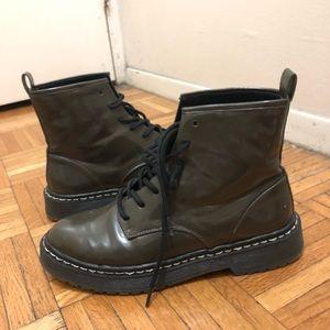 "Zara Olive ""doc marten lookalike"" Boots"